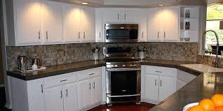kitchen backsplash black granite countertops white cabinets photos