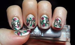 julep u201cfamily u201d vintage rose vines nail art u2013 starring my family