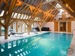 oak framed swimming pool house extension