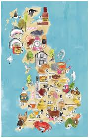 Map Of England by Map Of Regional Produce Of England Sold Online For Ocado Life