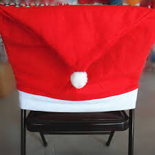 christmas chair back covers set of 4 santa hat chair covers christmas
