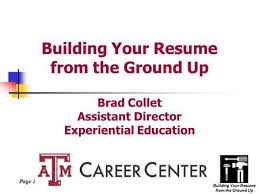 your career planning begins with a good resume jessica krause