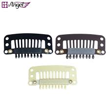 hair extension clips 100pcs 32mm 9 teeth hair extension clips snap metal clips with