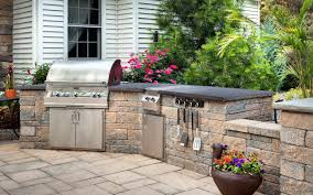 Outdoor Kitchen Countertops Ideas Kitchen Awesome Outdoor Kitchen Design Ideas With Black Metal