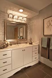 chrome bathroom vanity light fixture with crystal in modern