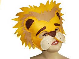 lion mask children s safari animal lion felt mask magical attic