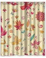 Cloth Shower Curtains Amazing Deal On Mohome Beauty Floral Shower Curtain Waterproof