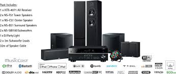 home theater tower speakers yamaha livestage6400 home theatre package with htr 4071 av