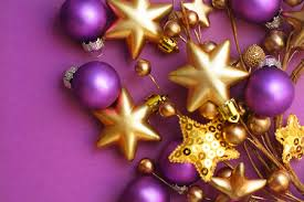 Purple Gold Christmas Decorations Merry Christmas Photography U0026 Abstract Background Wallpapers