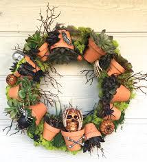 How To Decorate Your Door For Halloween by Terra Cotta Pot Halloween Wreath Cristina Ferrare