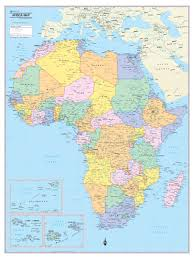 Map Of Africa Political by Wall Maps Posters Cool Owl Maps Africa Continent Map Wall Poster