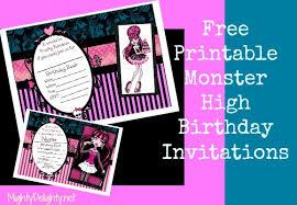 birthday invites wonderful monster high birthday invitations
