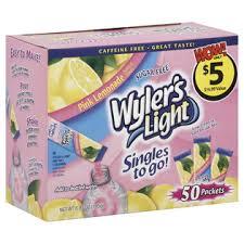 wyler s light singles to go nutritional information wyler s light singles to go soft drink mix pink lemonade 50