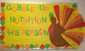 and lcm bulletin board gobble up fruits and veggies bulletin board