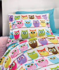 teen girls bed in a bag pink owl bedding twin or full comforter set bed in a bag