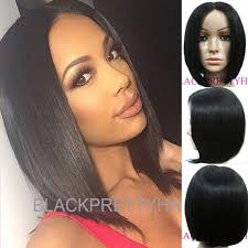 center part bob hairstyle 10inch black color human natural hair bob wigs for black women