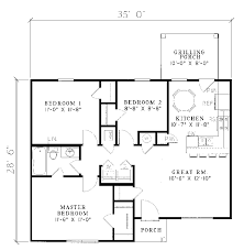 ranch floor plans small ranch house plans ranch house plan floor 055d 0013