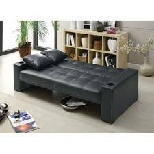 Leather Like Sofa Coaster Casual Black Leather Like Sofa Bed Futon Sleeper With