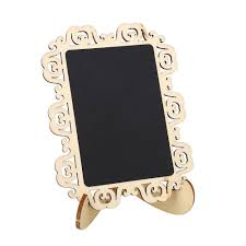 wedding gift message wood chalkboard blackboard message board hollow stand table