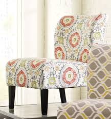 furnituremaxx honnary curve back fabric accent chair floral