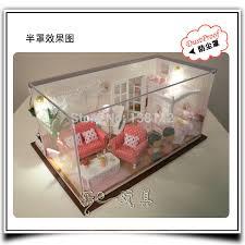 bedroom voice 13820 hongda diy wooden doll house miniature dollhouse bedroom voice