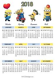 minion desk calendar 2017 87 fascinating 2018 printable calendar templates printable