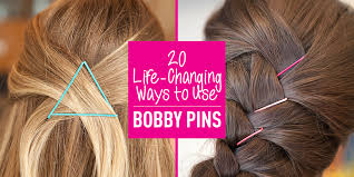 20 life changing ways to use bobby pins