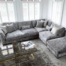 Living Room With Grey Corner Sofa Right Hand Chaise Corner Sofa
