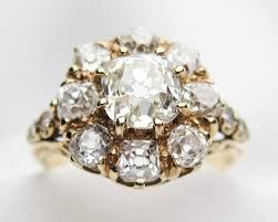 cluster rings 2 52 carat diamond ring antique diamond cluster ring