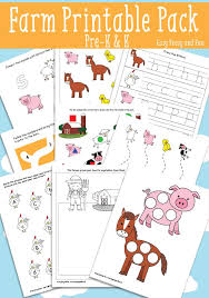 farm printables for kids easy peasy and fun