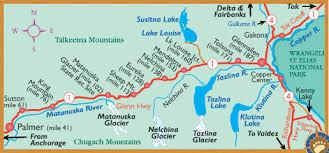 maps of alaska s glenn highway its communities by bearfoot