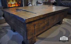Rustic Trunk Coffee Table Storage Coffee Table Wood Chest Rough Sawn Rustic Pine 3ft 2