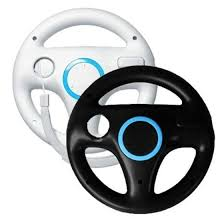 wii volante white black steering mario kart racing wheel for nintendo wii
