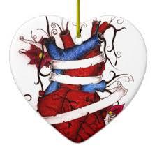 mended hearts ornaments keepsake ornaments zazzle