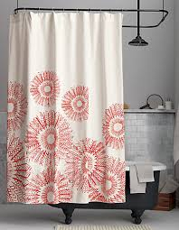 Pink And Orange Shower Curtain Red Shower Curtains Decor By Color