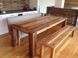 Kitchen Table With Bench With Back Nyfarmsinfo - Bench for kitchen table