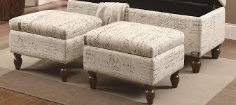 unique fabric storage ottoman coffee table in modern home interior