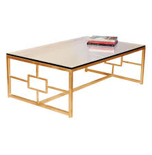 gold glass coffee table gold coffee table contemporary boutique style antique finish