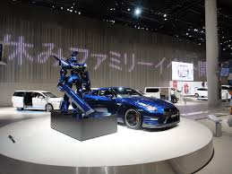 nissan japan headquarters nissan gt r with robot at the nissan global headquarters g u2026 flickr