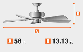 tidal breeze 56 in led indoor silver ceiling fan home decorators collection tidal breeze 56 in indoor led silver