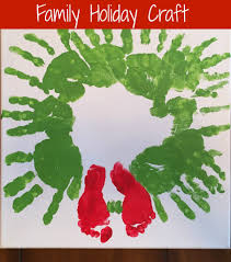 this year u0027s special christmas handprint craft wreaths crafts