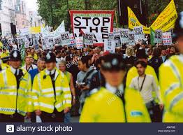 anti war in iraq march london organised by stop the war coalition