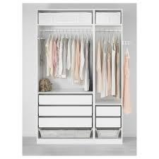 Ikea Closet Pax Wardrobe White Tyssedal White 150x60x236 Cm Ikea