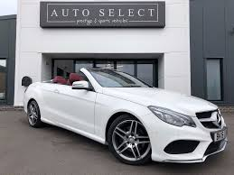 used mercedes convertible used polar white with red leather u0026 hood mercedes e350 for sale