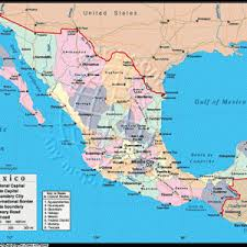 map us landforms mexico bordering countries belize guatemala us regional maps map