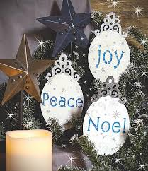 noel peace painted ornaments project by decoart