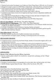 Sample Resume For Retired Police Officer by Police Officer Resume Police Officer Resume Best Police Officer