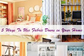 Fabric Closet Doors 5 Ways To Use Fabric Doors In Your Home