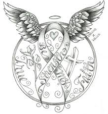 strength awareness ribbon tattoo design by denise a wells u2026 flickr