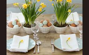 Table Decorations For Easter Brunch by